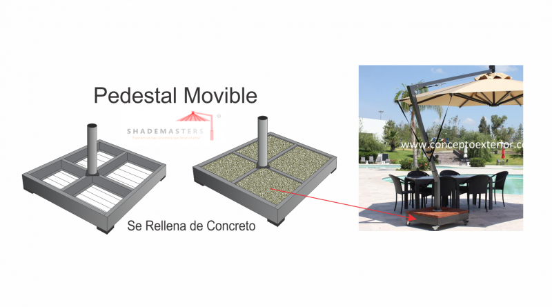 Base Pedestal Movible Acero Para Rellenar Con Concreto