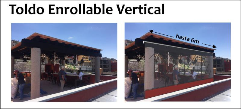 Toldo Enrollable Caida Vertical Nacional